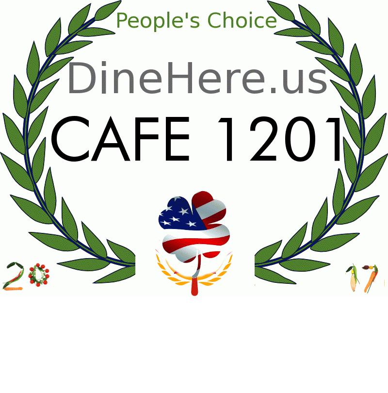 CAFE 1201 DineHere.us 2017 Award Winner